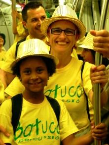 I després pugem al metro de Barcelona